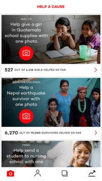 Cool Way to Give Back with the Donate a Photo App
